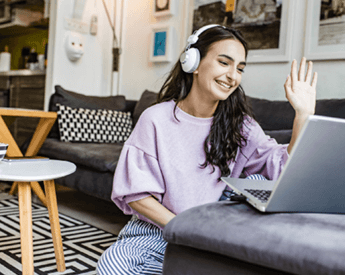 What's On | Course and Career Webinar | Think Education | Woman on Laptop