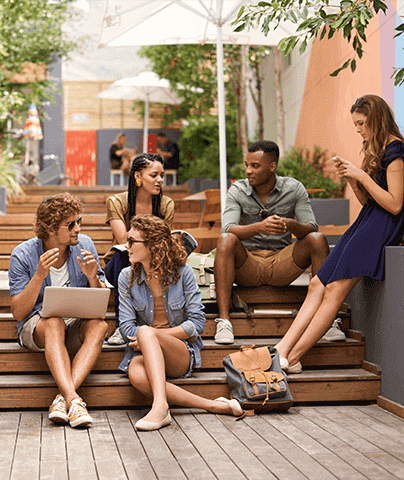 Why Study at Think Education | Students in Courtyard | Think Education