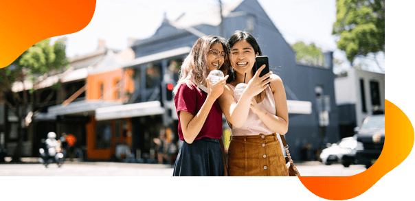 International Students Living in Australia while studying at Torrens University | Friends taking aselfie
