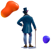 Billy Blue Design Courses and Degrees | Billy Blue standing with cane